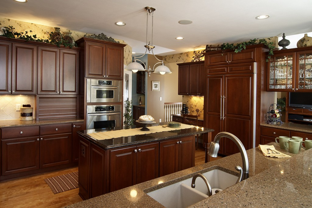 Cherry with Brandy Stain, Independence Doors and Slab Drawer Fronts