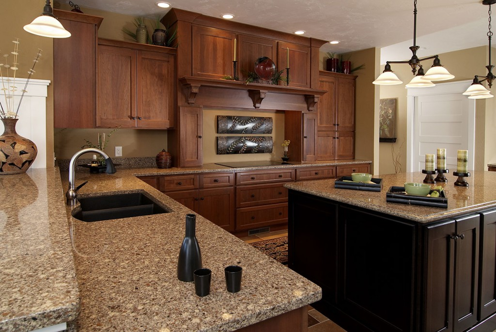 Cherry with Heirloom Stain, Concord Doors and Drawers, Island has custom stain.