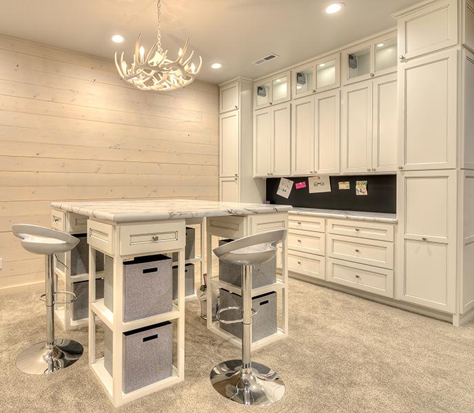 Craft Room, Frosty White Shadow Glaze Arlington