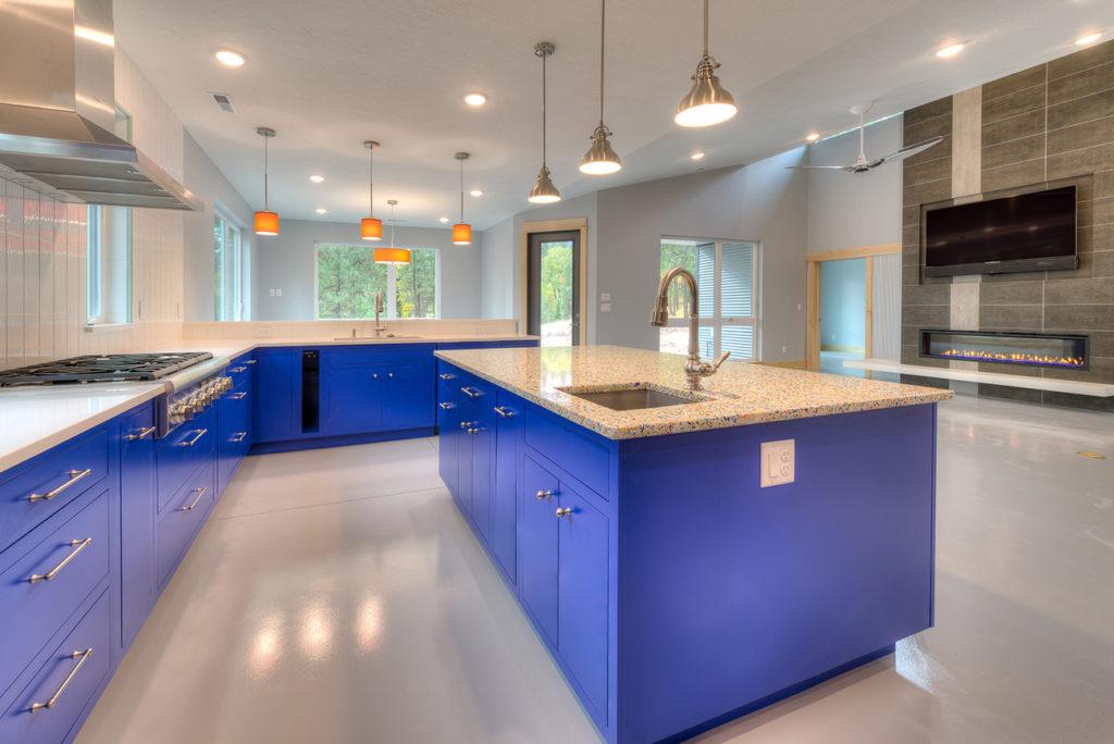 Custom opaque maple kitchen with inset Bradford door style