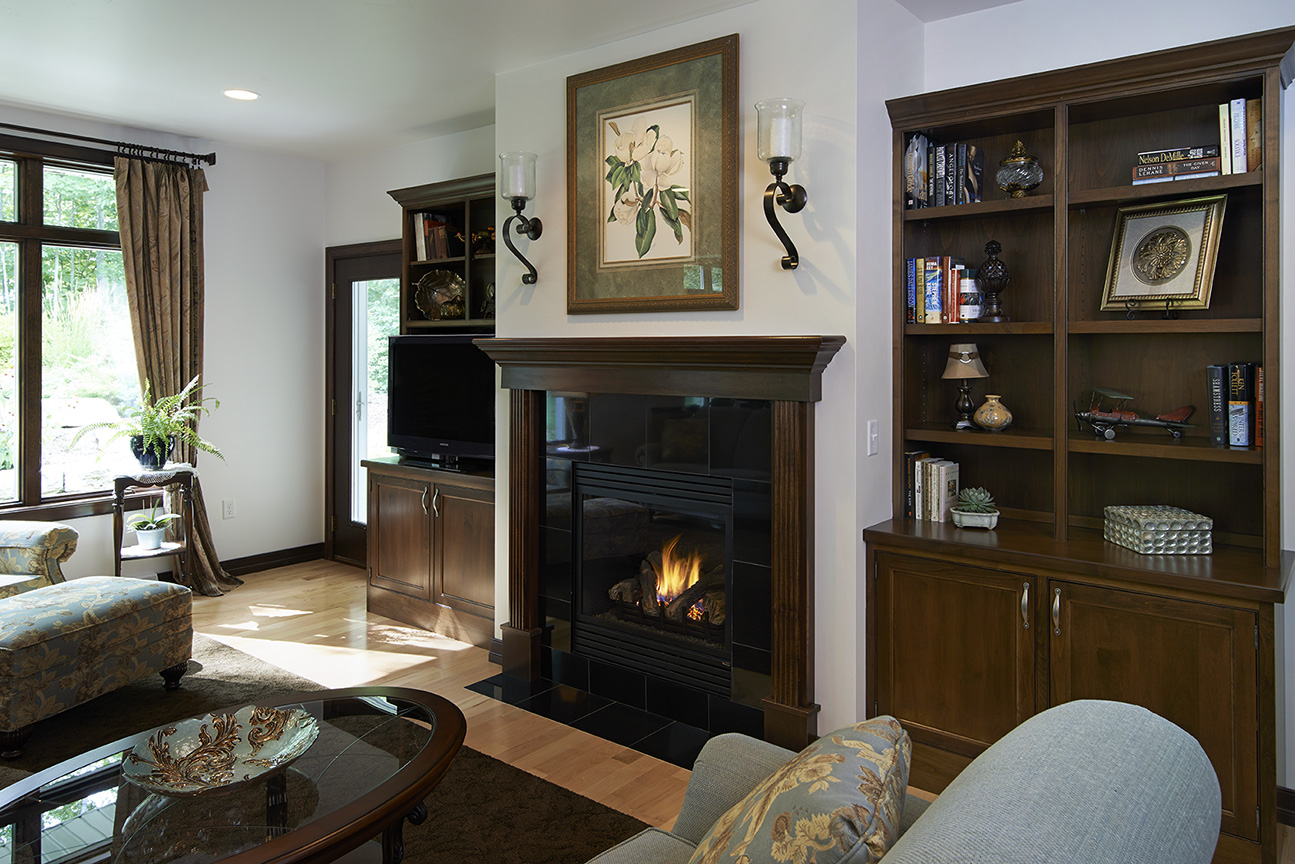 java alder bookcases with independence door style in beaded inset