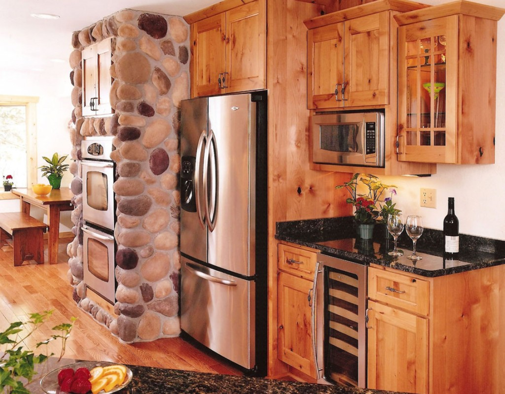 Rustic Alder in Natural with Concord Doors and Drawers.