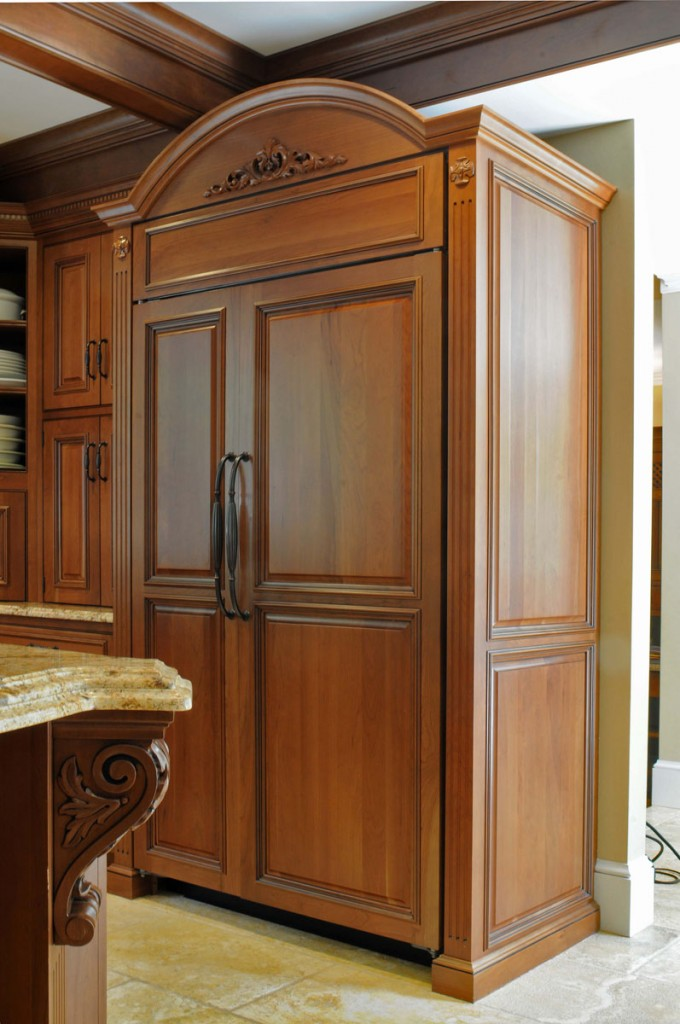 Spiced Rum Stain and Black Glaze on Cherry, Verona Door and Verona II Drawer, Inset