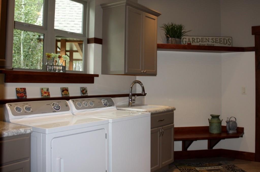 Laundry, Brockton Door, Slab Drawer, Maple with Truffle